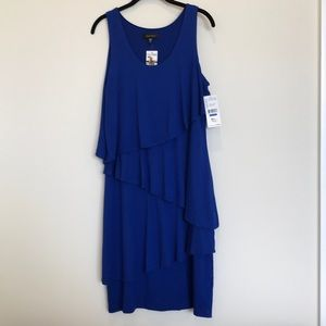 Karen Kane NWT XL Blue Asymmetrical Tier Dress